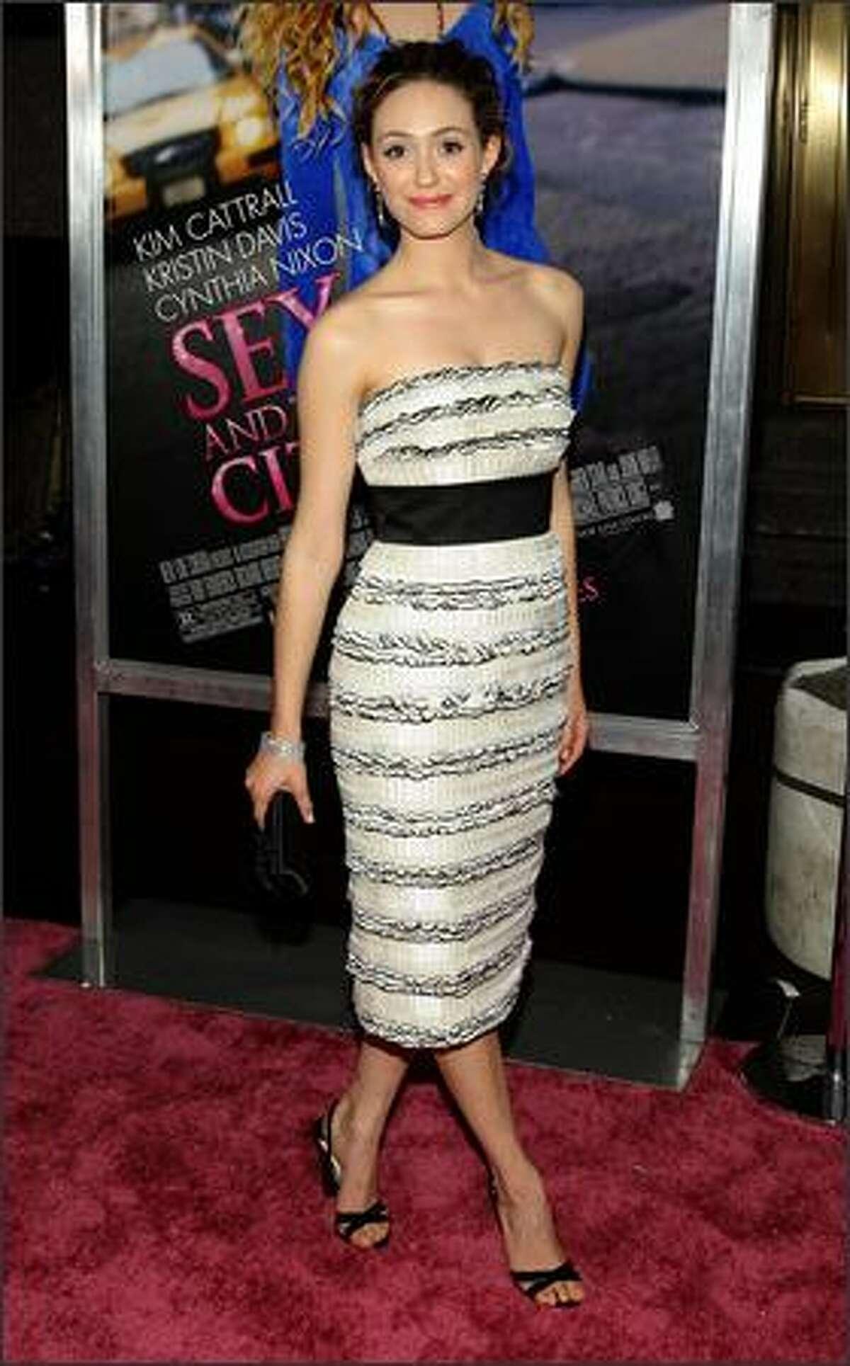 Actress Emmy Rossum.