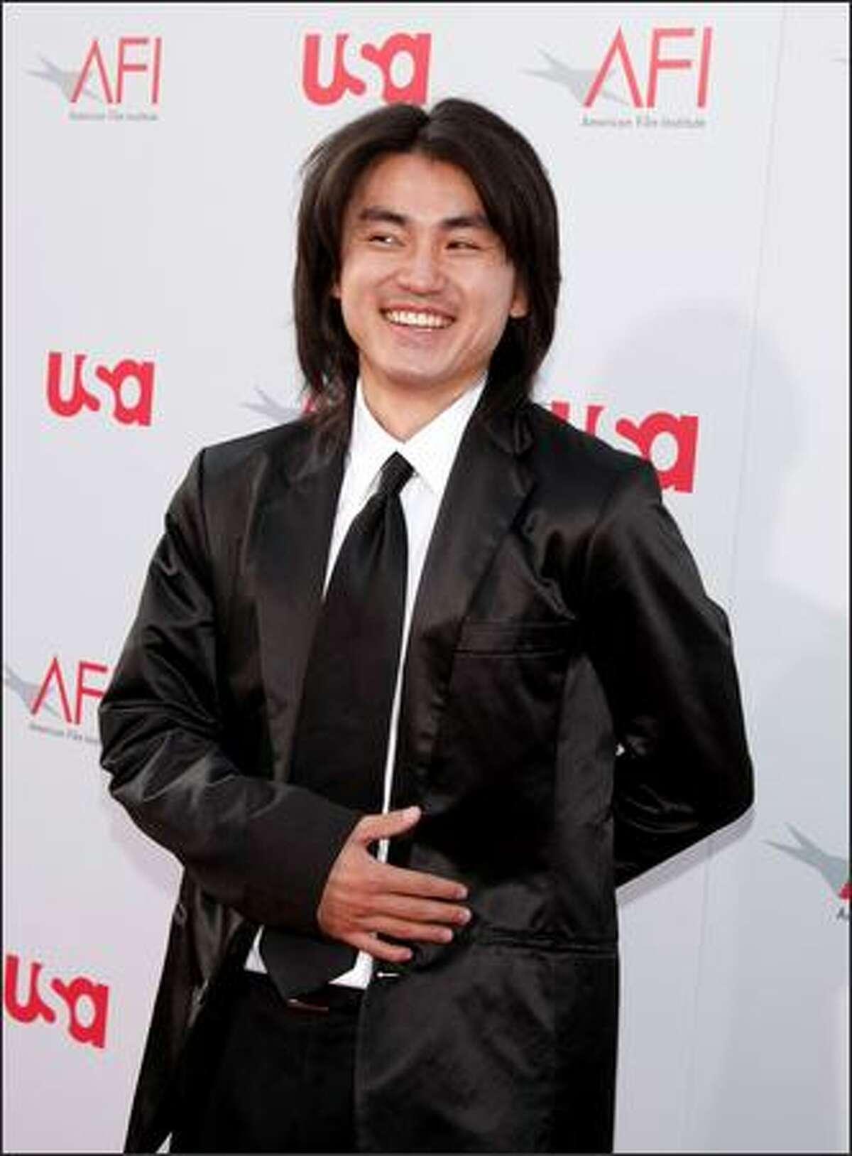 Actor Shin Koyamada arrives at the Kodak Theatre.