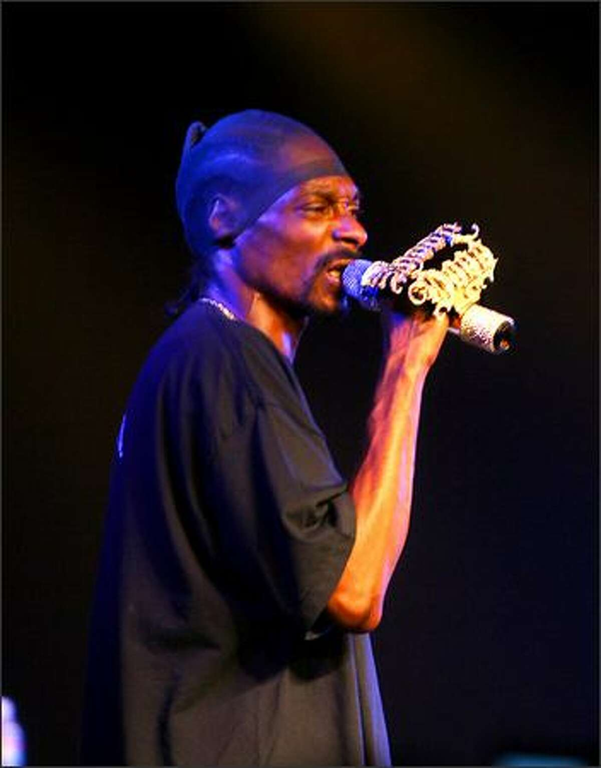 Rapper Snoop Dogg performs at Snoop Dogg's West Fest.