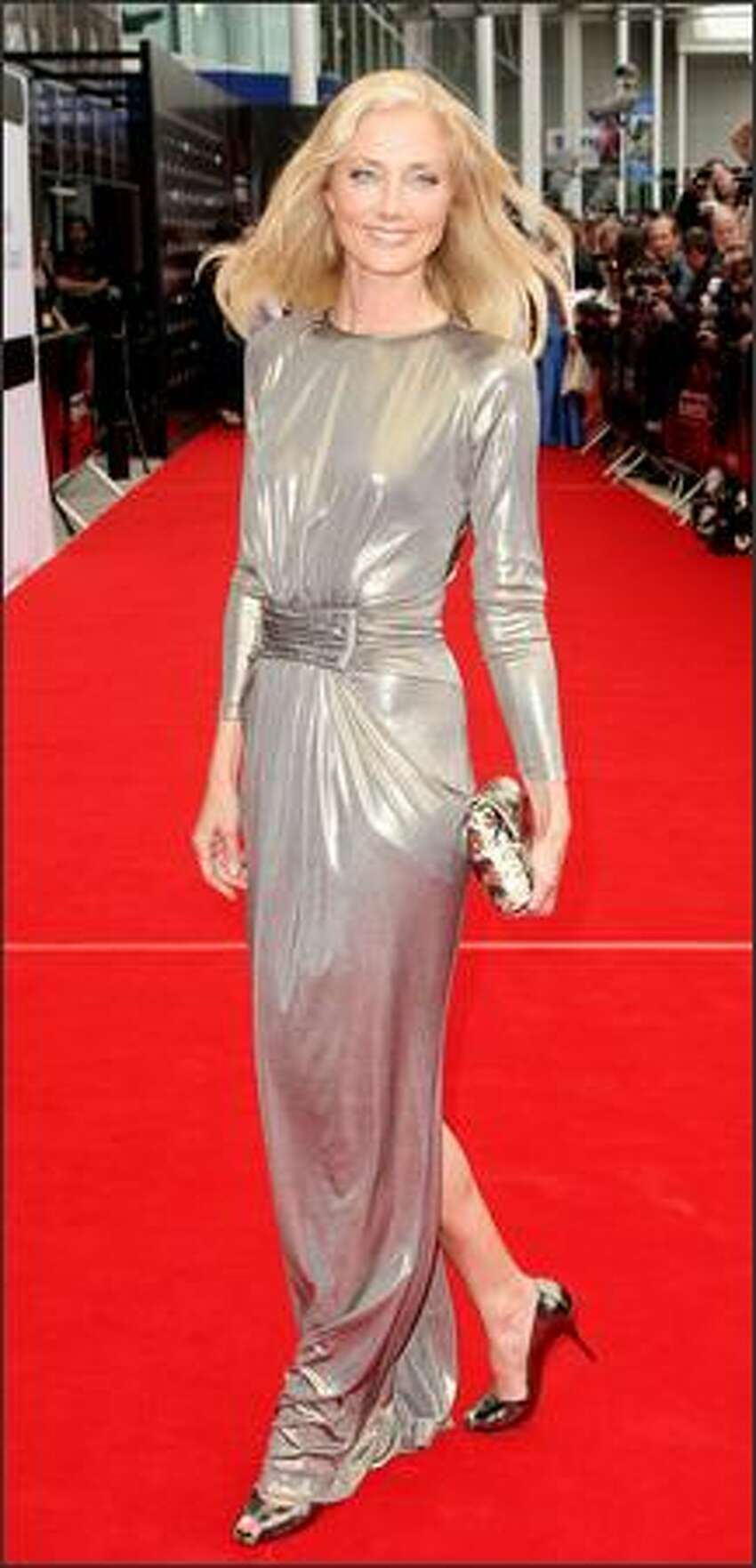Actress Joely Richardson arrives at the world premiere of 'The Edge Of Love' on the opening night of the 62nd Edinburgh International Film Festival, at Cineworld, Fountain Park on Wednesday in Edinburgh, Scotland.