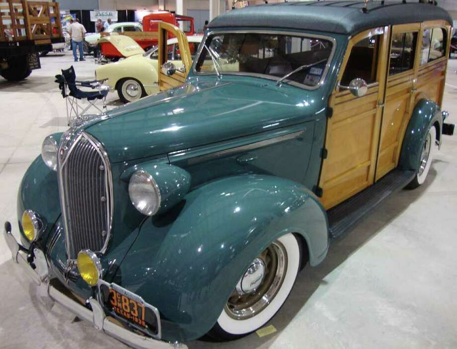 This 1938 Plymouth Westchester Suburban was the only woody wagon displayed at the show. Owned by Jim Cuny, the car was in near-perfect condition. Photo: G. Chambers Williams III