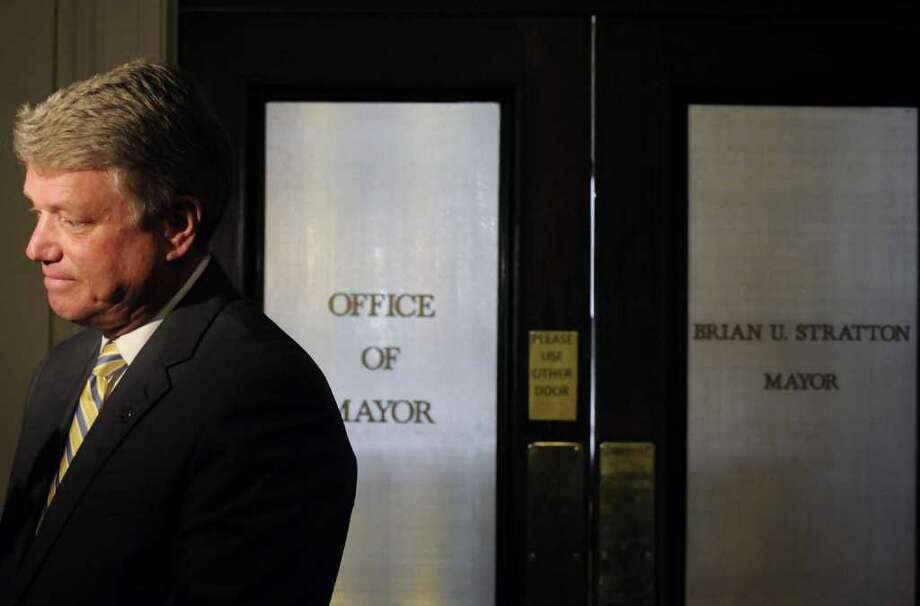 Schenectady Mayor Brian Stratton outside his office at City Hall in Schenectady Thursday March 24,2011.Stratton will be leaving his office to take a job as director ofthe New York State Canal Corp.( Michael P. Farrell/Times Union ) Photo: Michael P. Farrell