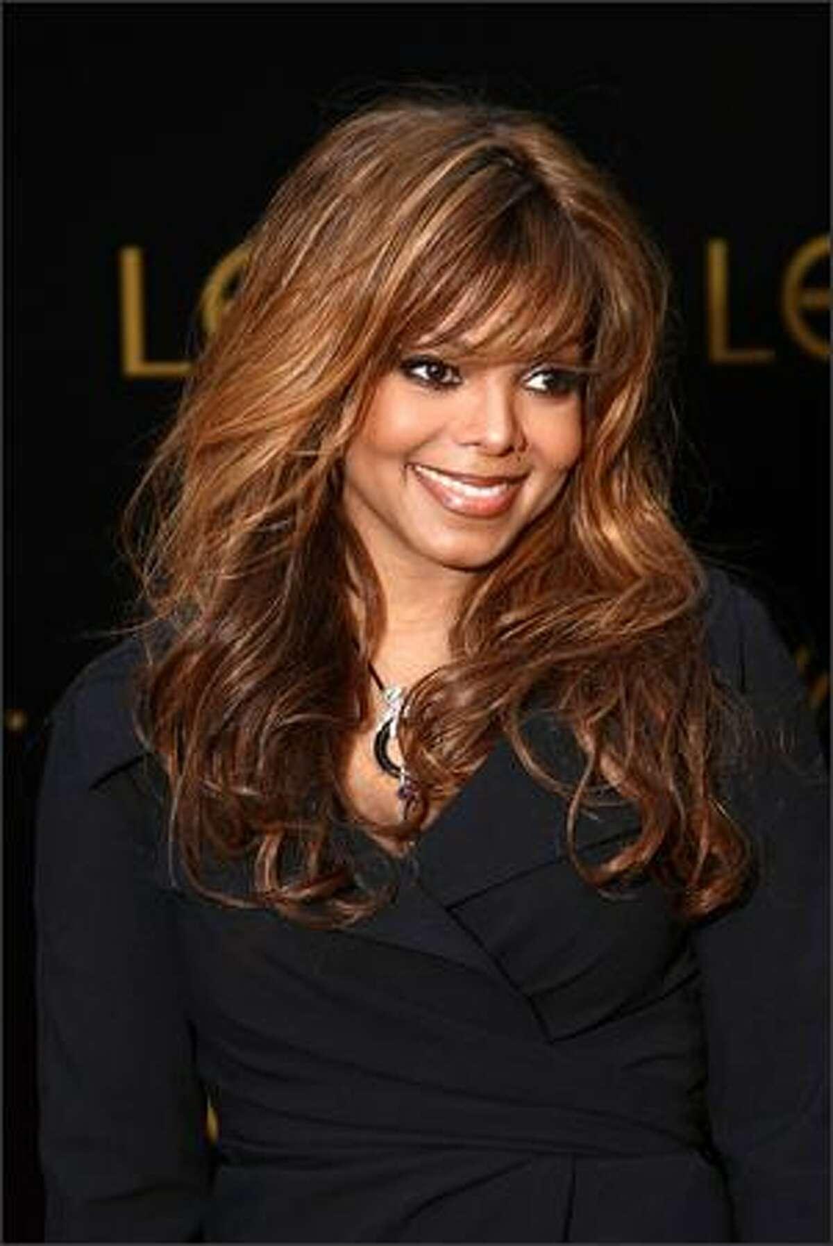 Singer Janet Jackson arrives.