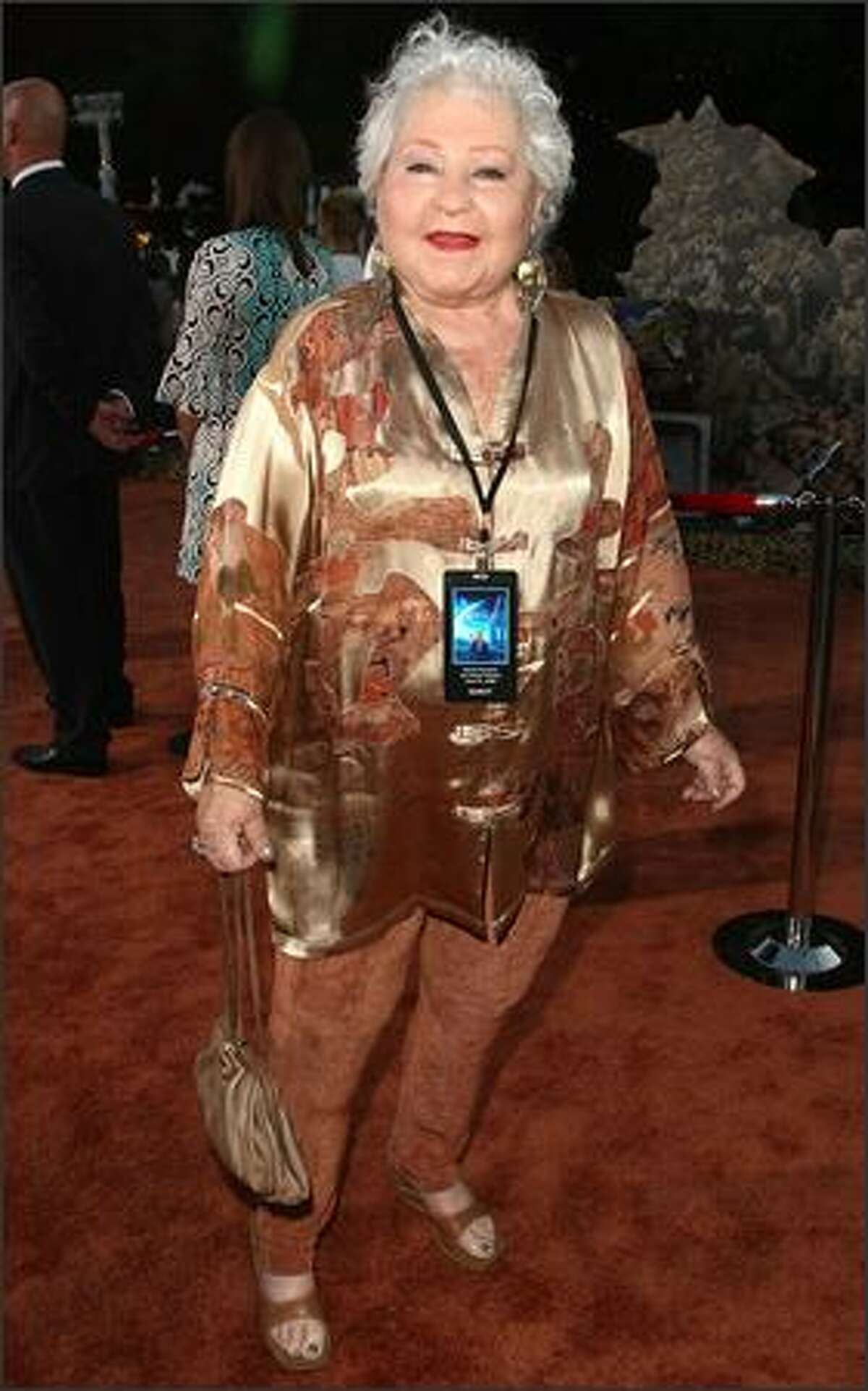 Actress Estelle Harris arrives at the world premiere of Disney-Pixar's film