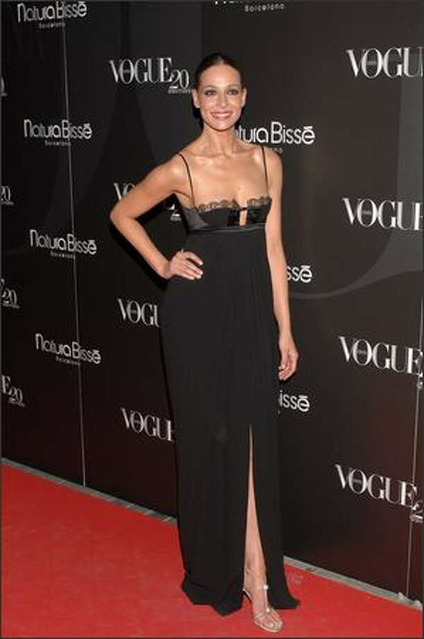 Spanish model Eva Gonzalez attends the Vogue Magazine (Spain edition) 20th anniversary party on June 25 at the Santo Mauro Hotel in Madrid, Spain. Photo: Getty Images