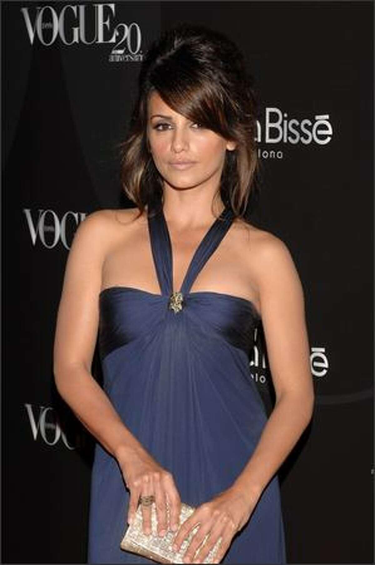 Spanish actress Monica Cruz.