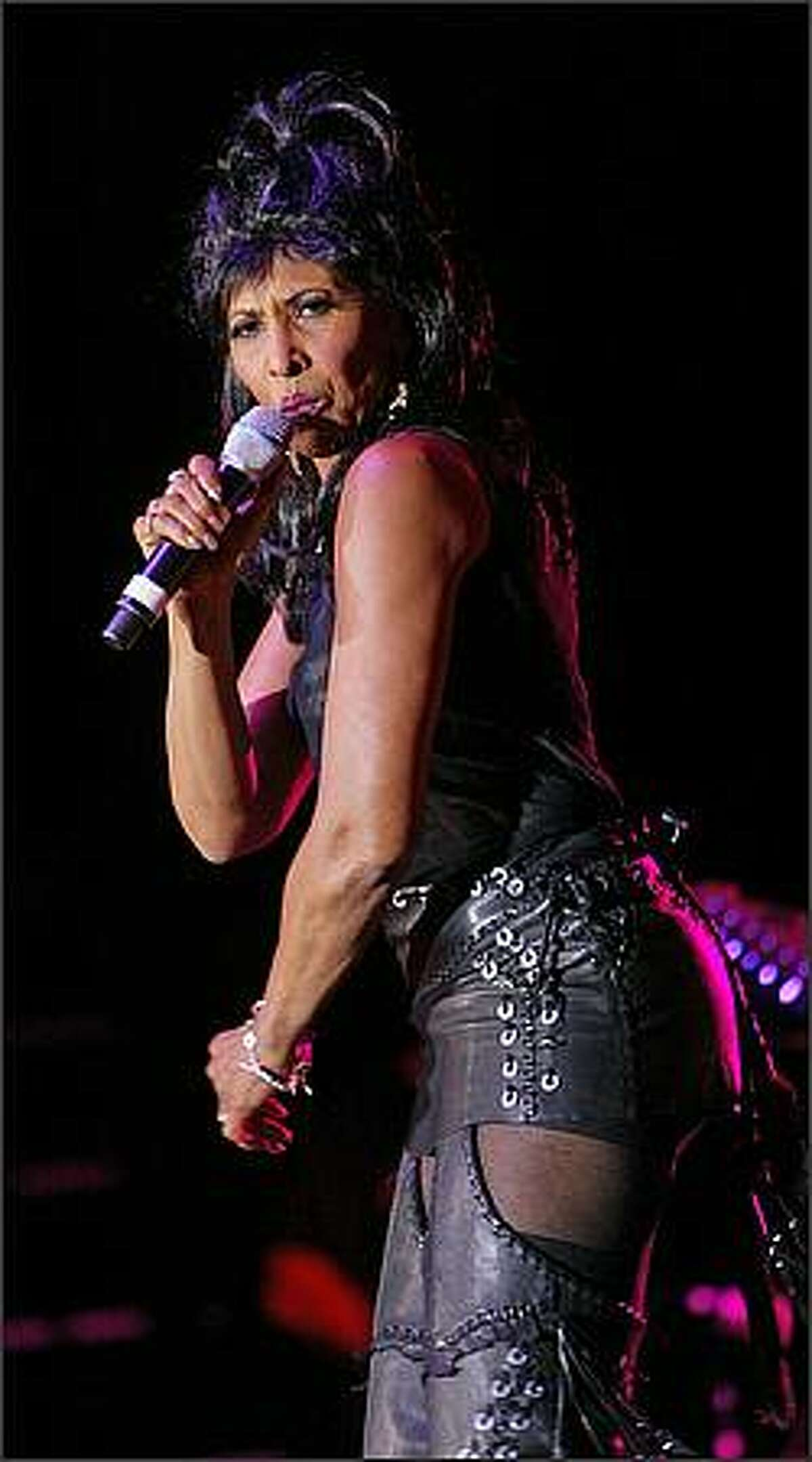 Nona Hendryx performs at the True Colors Tour at WaMu Theater.