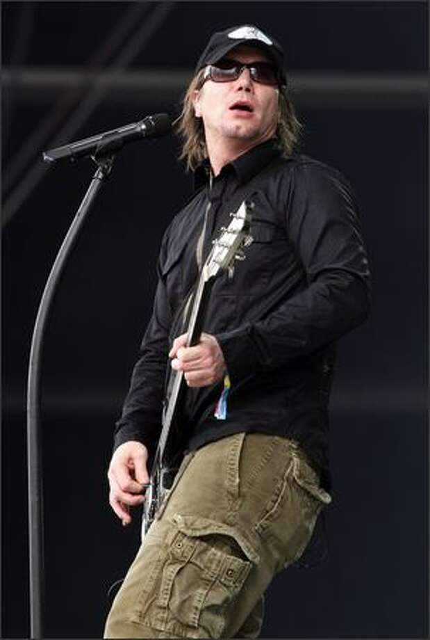 John Rzeznik of the Goo Goo Dolls performs on the main stage during day 4 of the O2 Wireless Festival 2008 on Sunday in London, England. Photo: Getty Images