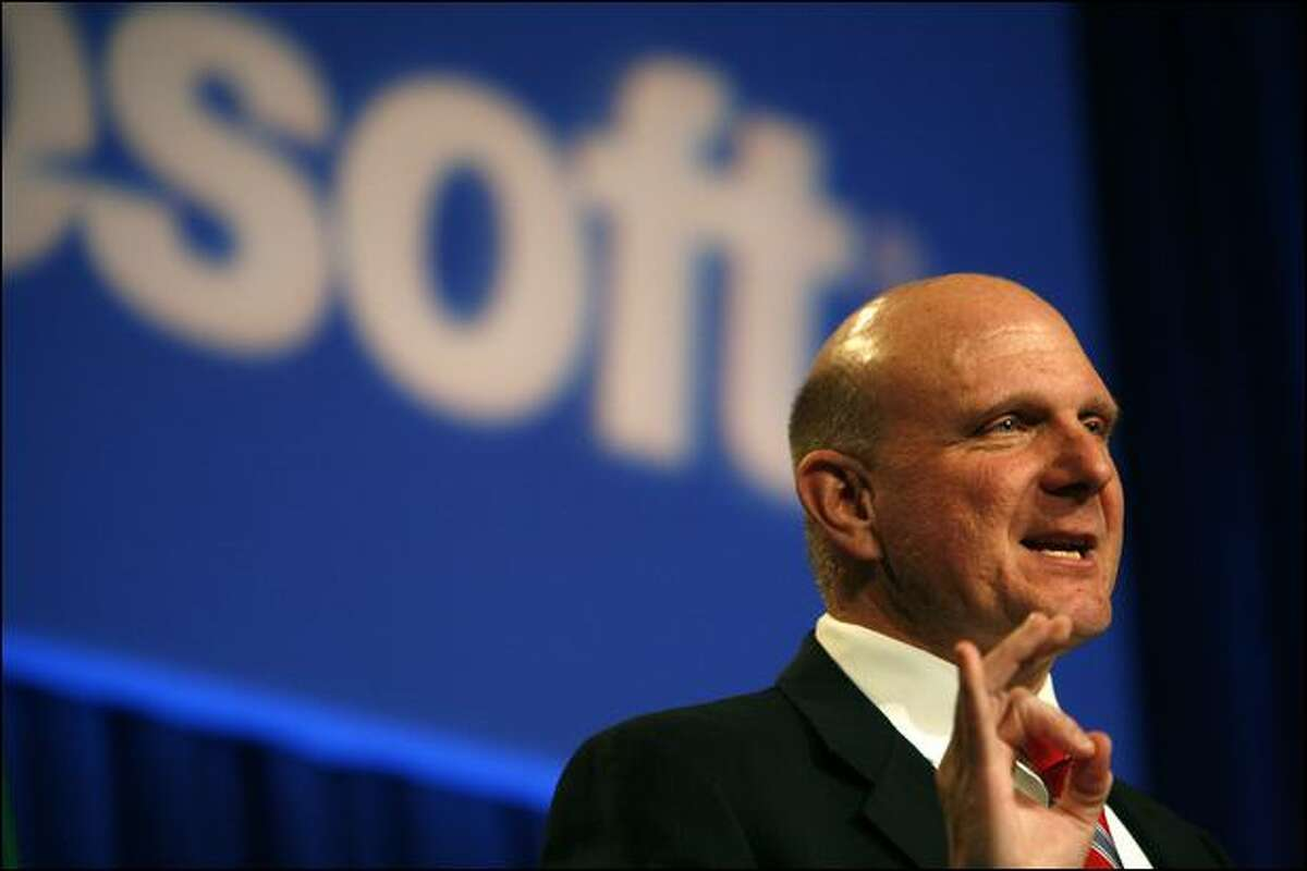 Microsoft Chief Executive Steve Ballmer told shareholders Wednesday that the company is looking at ways to cut costs, and likely will be hiring fewer new workers in the next year or two.