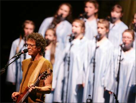 """Singer Lou Reed performs his album """"Berlin"""" at the CCH Congress Center on Sunday in Hamburg, Germany. Photo: Getty Images"""