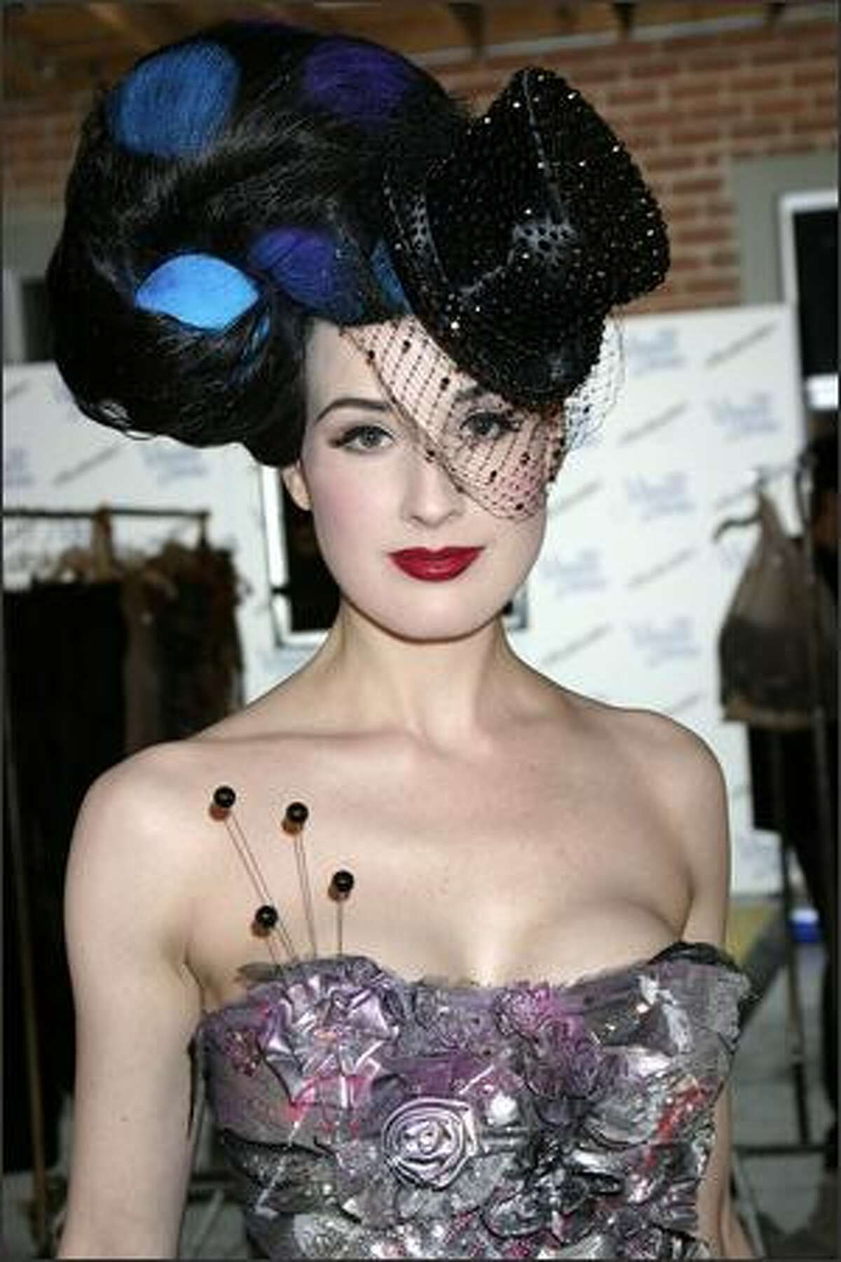 Dita Von Teese attends Heatherette Holiday 2004, on April 1, 2004 in Culver City, Calif.