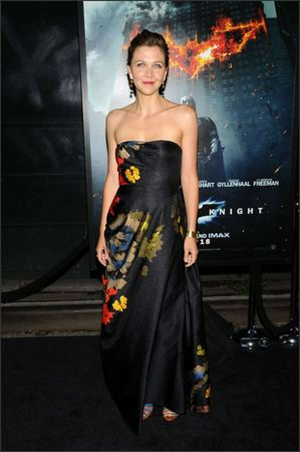 Actress Maggie Gyllenhaal arrives at the world premiere of