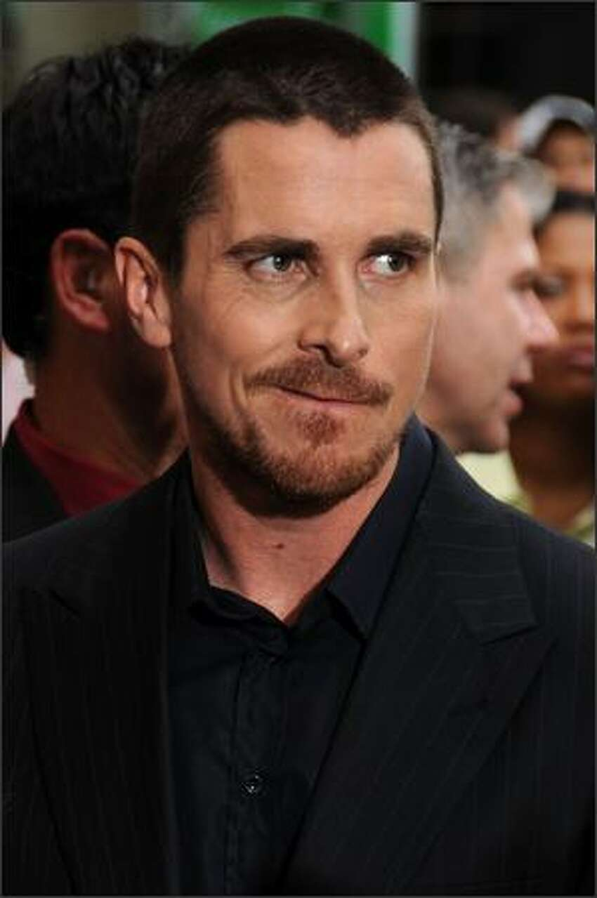 Actor Christian Bale arrives at the world premiere of