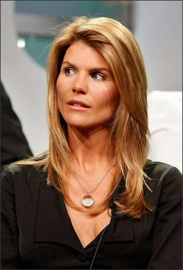 """Actress Lori Loughlin of """"90210"""" speaks during the CW portion of the Television Critics Association Press Tour held at the Beverly Hilton Hotel in Beverly Hills, Calif., on Saturday. Photo: Getty Images"""