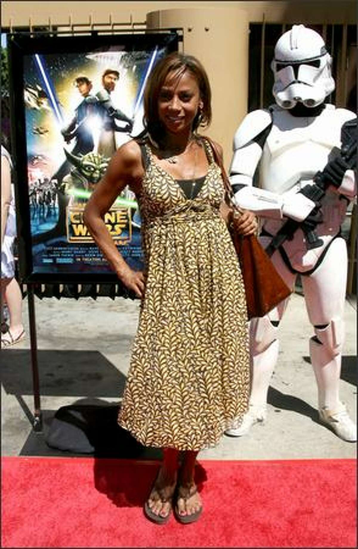 Actress Holly Peete Robinson arrives at the premiere of