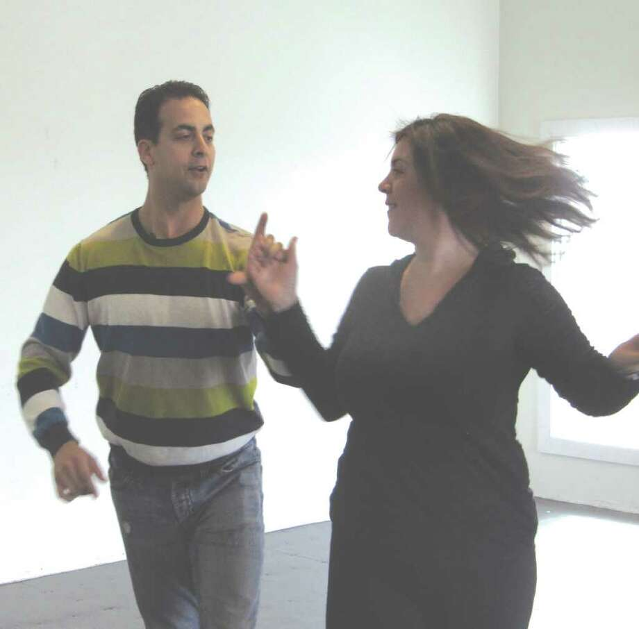 Darien's Tracie Wilson dances with Michael Powers. Photo: Contributed Photo / Darien News