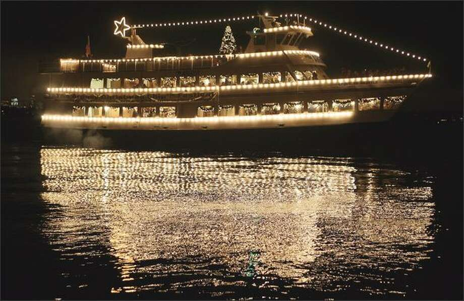 Christmas past: The Argosy ship Spirit of Seattle departs at the Leschi Marina for a