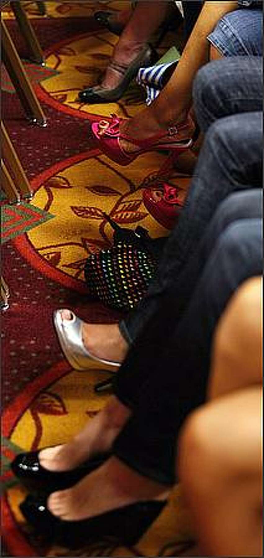 All sorts of colorful shoes donned the feet of Top Model hopefuls at Doubletree Guest Suites during Seattle's America's Next Top Model casting call.
