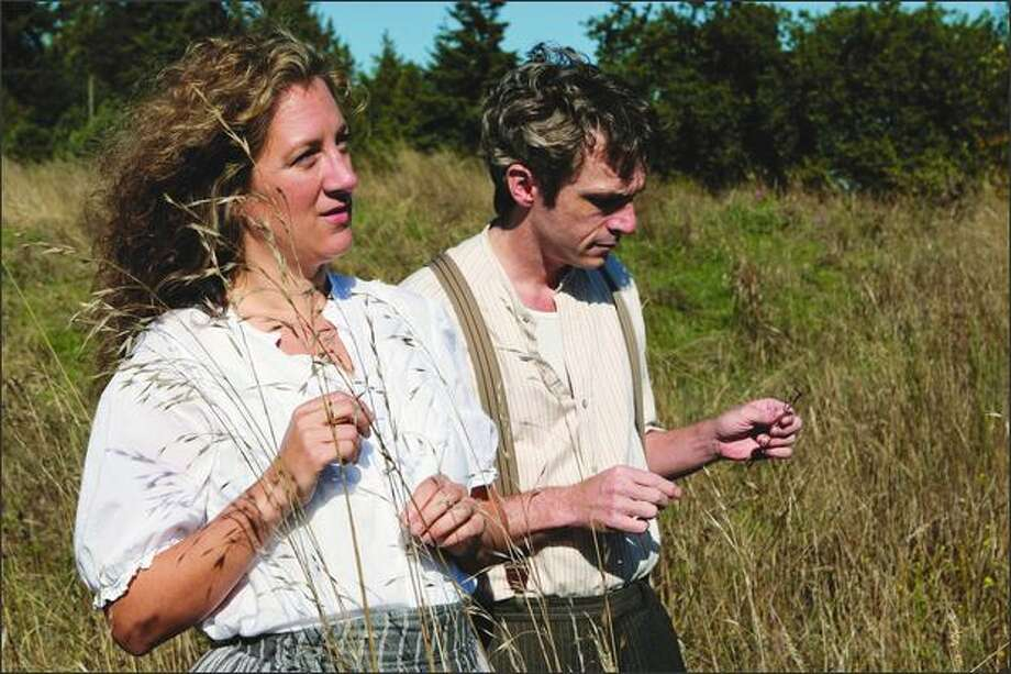 "Growing up on a ranch in Colorado, Annie Lareau (as Antonia Shimerda with George Mount who is narrator Jim Burden) cherished Willa Cather's Great Plains novel ""My Antonia."" Photo: John Ulman"