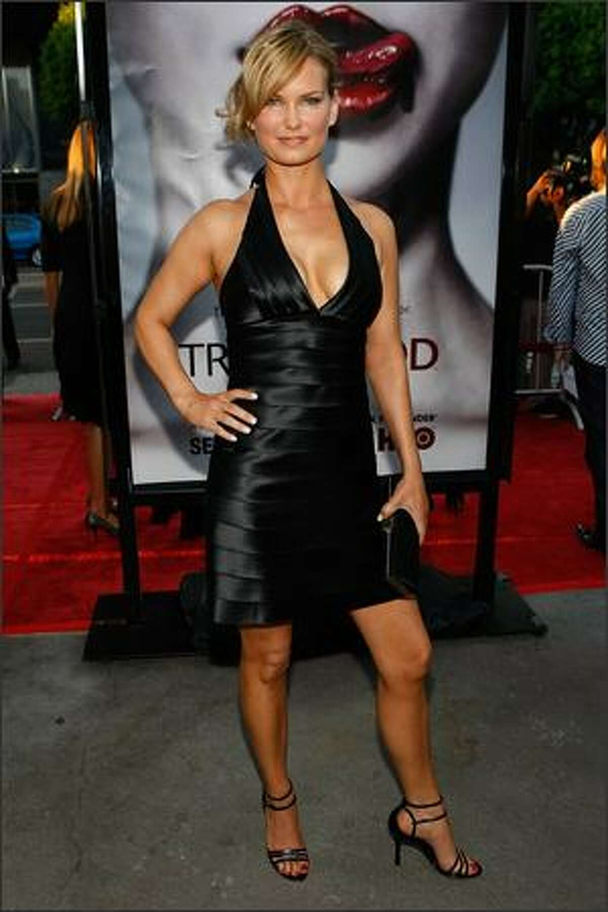Actress Danielle Sapia arrives at the Los Angeles premiere of HBO's series