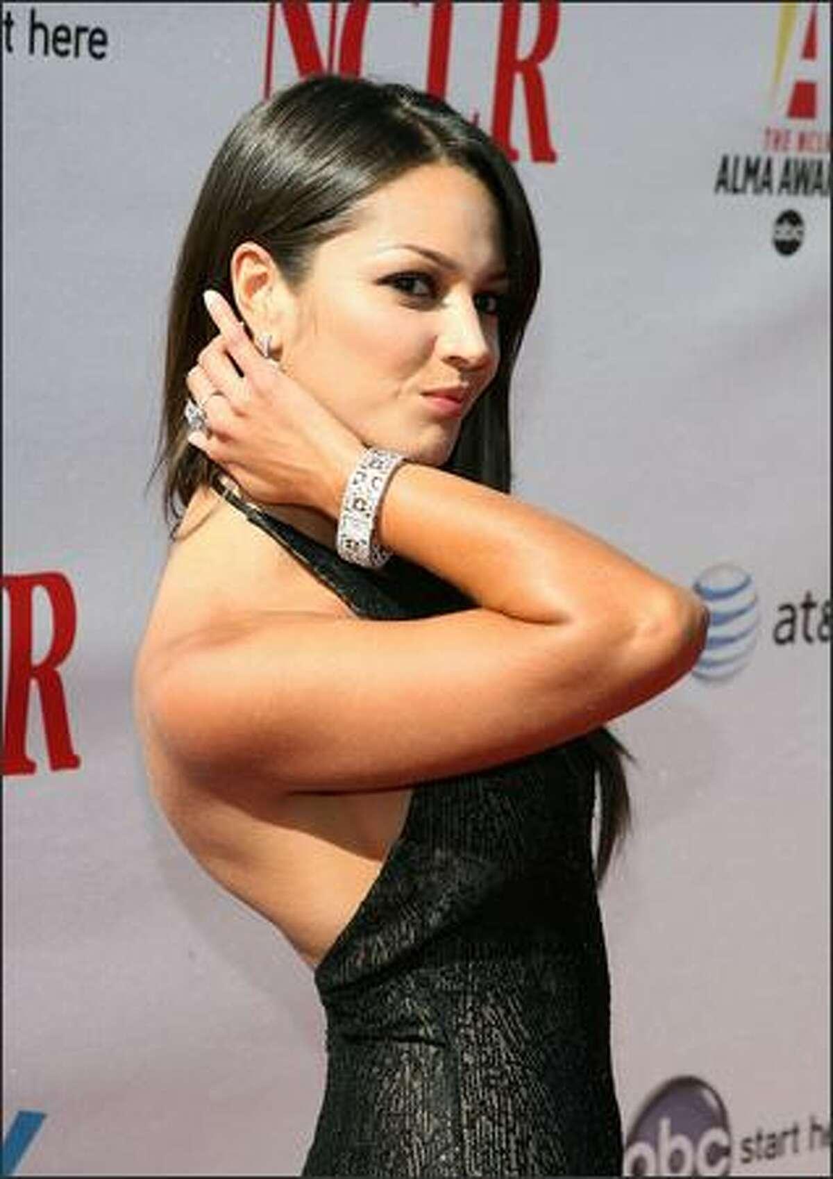Actress Paula Garces arrives at the 2008 ALMA Awards at the Pasadena Civic Auditorium on Sunday in Pasadena, Calif.