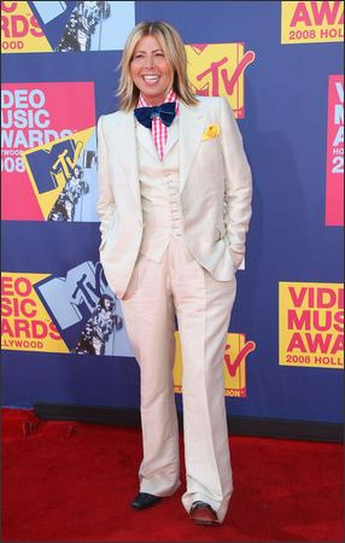 Fashion critic Steven 'Kojo' Cojocaru arrives at the 2008 MTV Video Music Awards at Paramount Pictures Studios on Sunday in Los Angeles, California.