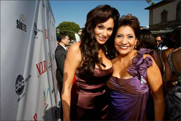 Actress Sofia Vergara and President and CEO of NCLR Janet Murguia attend the 2008 ALMA Awards VIP post party at the Pasadena Civic Auditorium on Sunday in Pasadena, Calif. Photo: Getty Images
