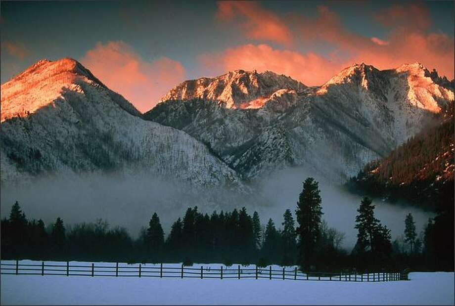 Wedge Mountain looms over the Icicle River valley just south of Leavenworth. Brian Munozo Photo: /