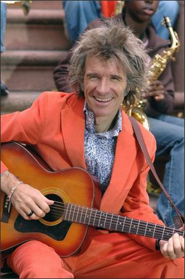 """Before Dan Zanes heads to Broadway, catch his """"Holiday House Party"""" at the Moore Theatre. Photo: Hillevi Loven/Heifer International"""