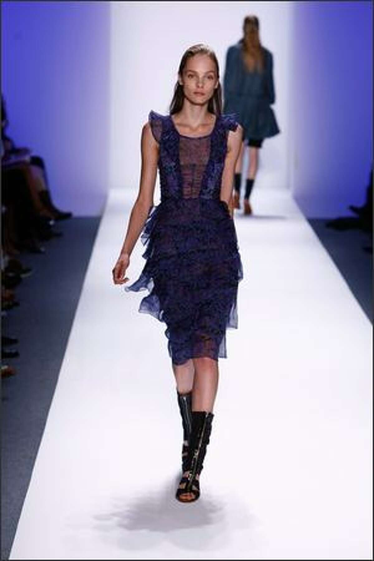 A model walks the runway at the Richard Chai Spring 2009 fashion show during Mercedes-Benz Fashion Week at The Salon in New York City.