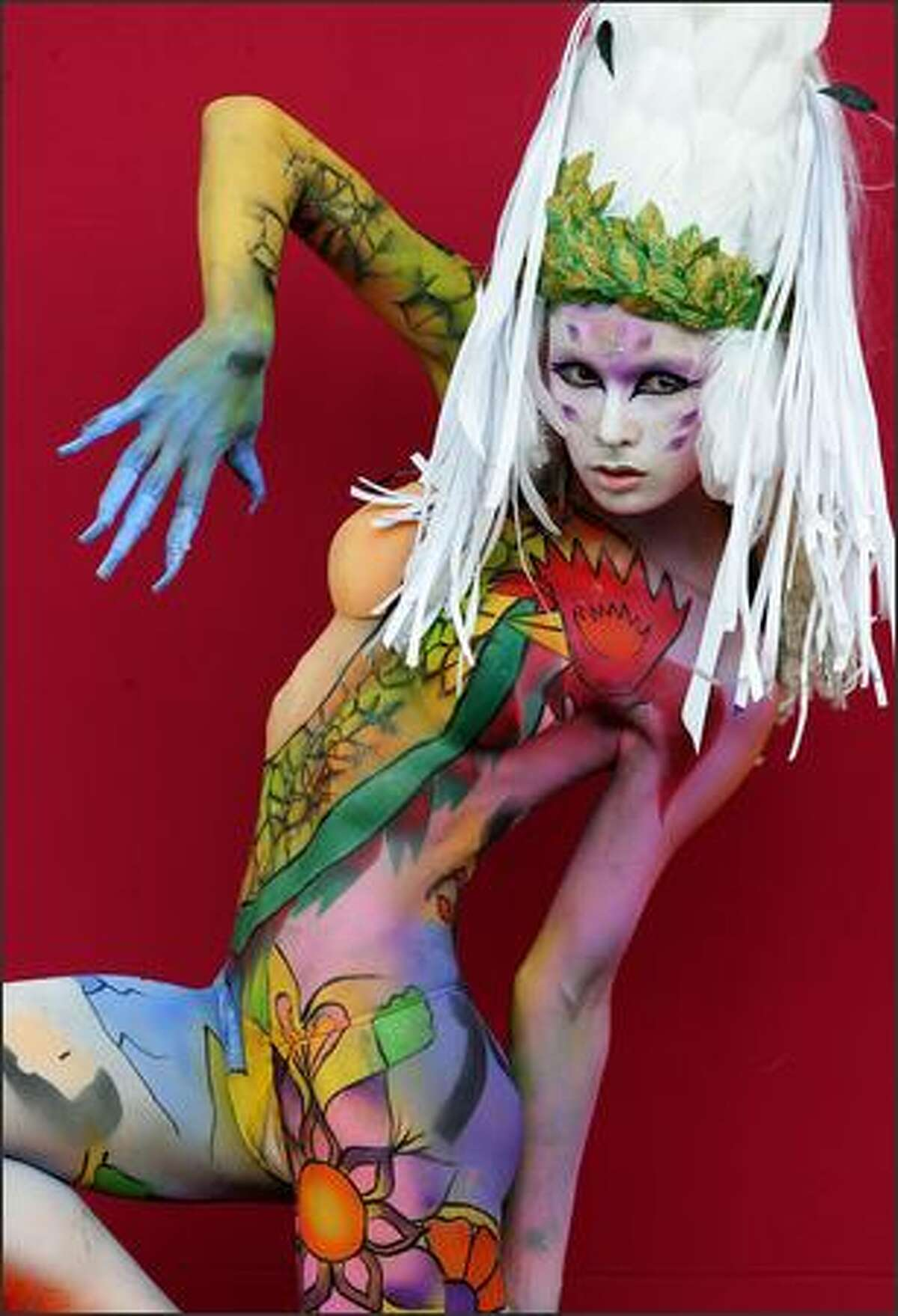 DAEGU, SOUTH KOREA - AUGUST 29: A model participates in the 2008 World Body Painting Festival Asia at World Cup Stadium on August 29, 2008 in Daegu, South Korea. The festival is the largest in the field of body painting and introduces the art form to thousands of visitors each year.