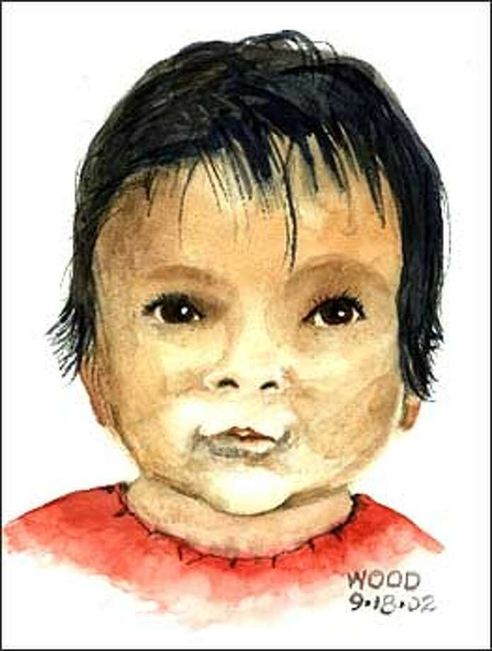 Forensic artist  Dave Wood made this sketch of baby Jane Doe  based on photographs supplied by investigators.