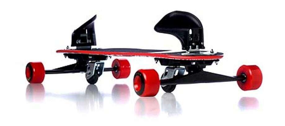 The Freebord longboard produces a wild ride down terrain so steep you'd normally need a brake.