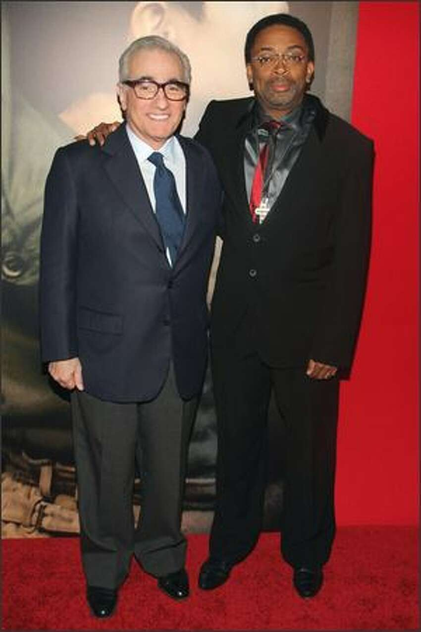 Directors Martin Scorsese and Spike Lee attend the premiere of
