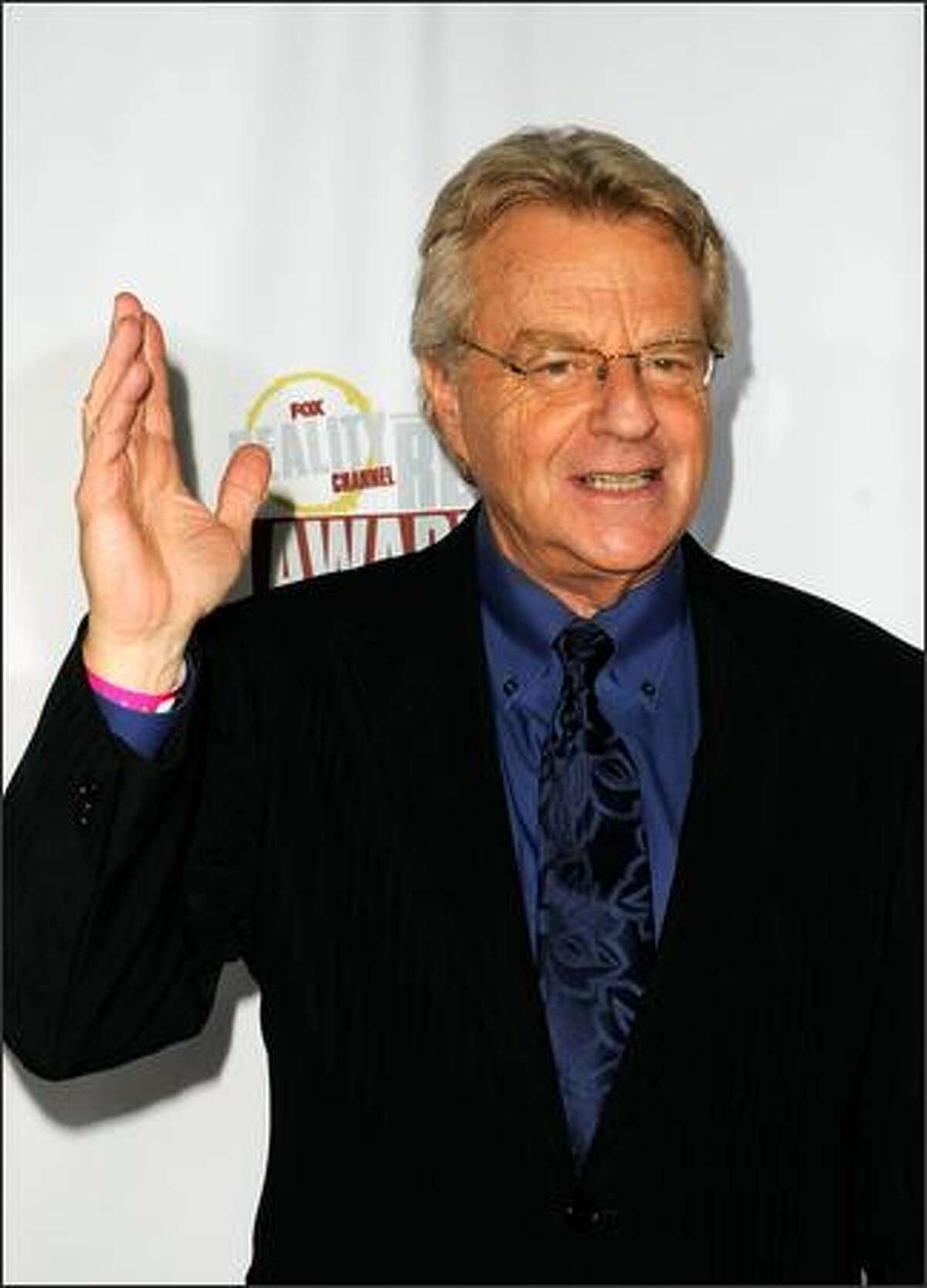 Television host Jerry Springer arrives.