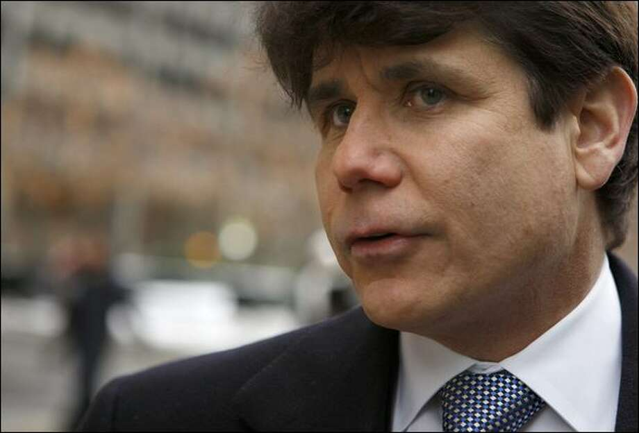 Illinois Gov. Rod Blagojevich was arrested Tuesday on charges he brazenly conspired to sell or trade President-elect Barack Obama's vacant Senate seat to the highest bidder. Photo: Nancy Stone/Chicago Tribune