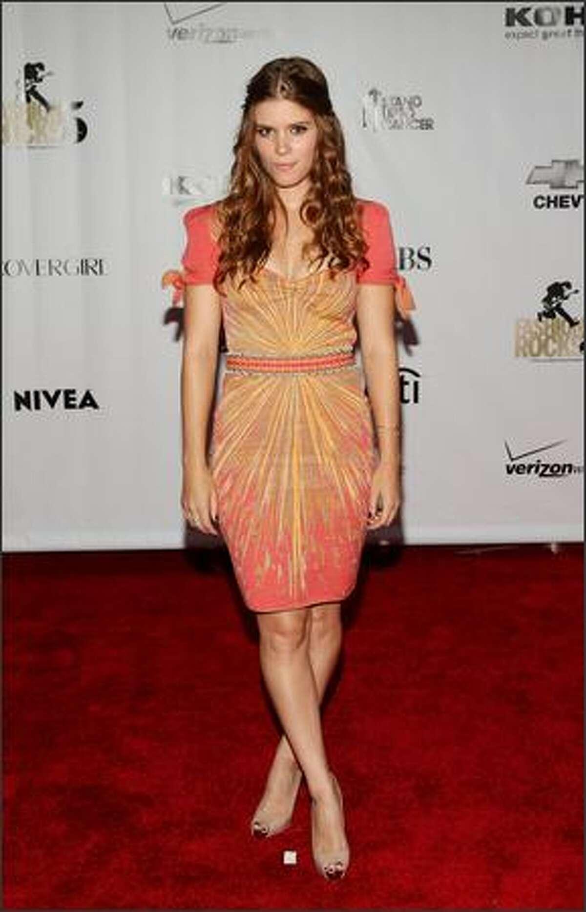 Actress Kate Mara arrives.