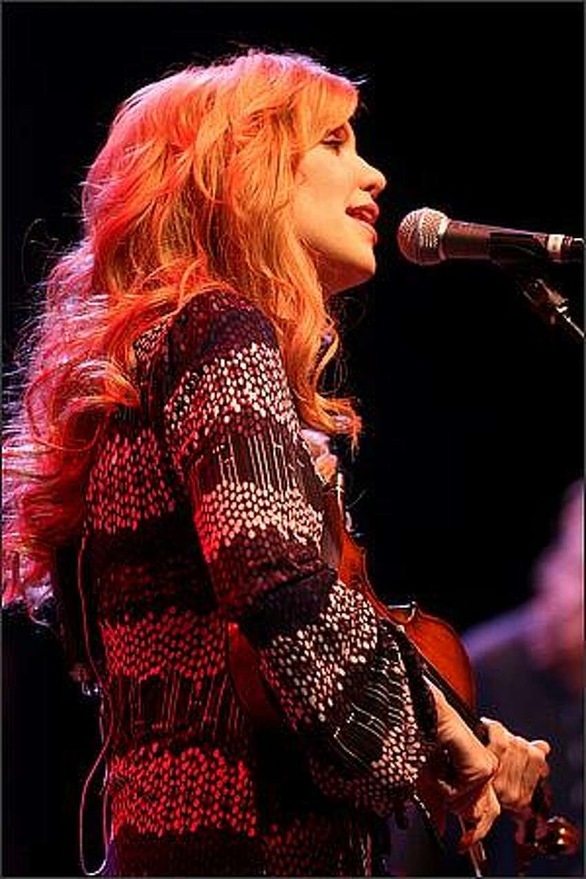 Alison Krauss performs at the WaMu Theater in Seattle on Wednesday.