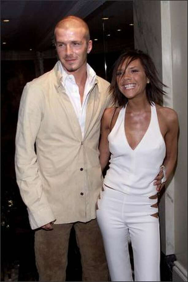 David and Victoria Beckham at the Silver Clef Awards at the Intercontinental Hotel in London, June 29, 2001. Photo: Getty Images