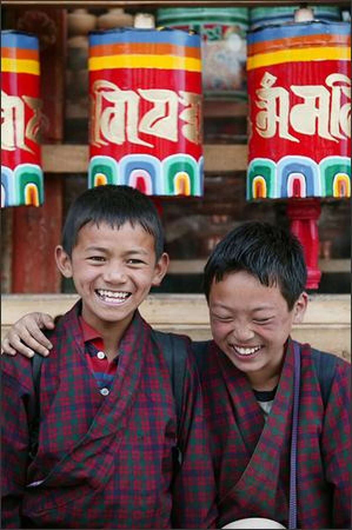 Art Wolfe's photo of children in Bhutan from the TV series