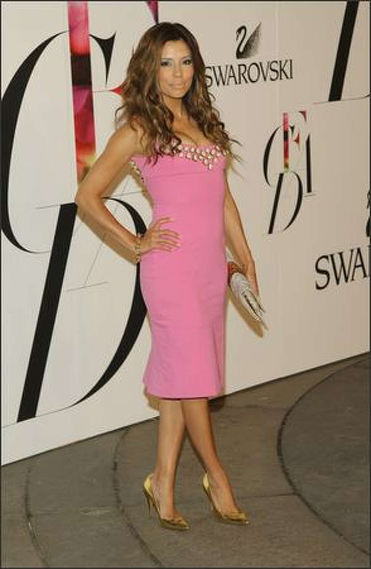 Actress Eva Longoria Parker attends the 2008 CFDA Fashion Awards at the New York Public Library on Monday in New York City.