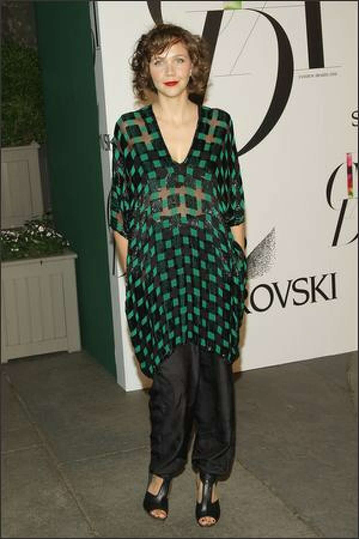 Actress Maggie Gyllenhaal attends the 2008 CFDA Fashion Awards at the New York Public Library on Monday in New York City.