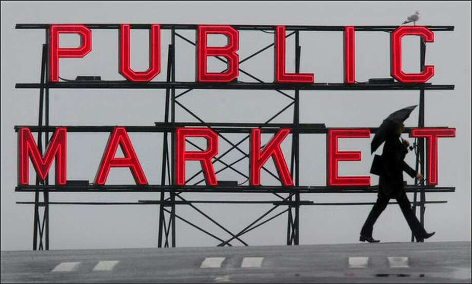 One of the Pike Place Market's signature neon signs. Photo: P-I File