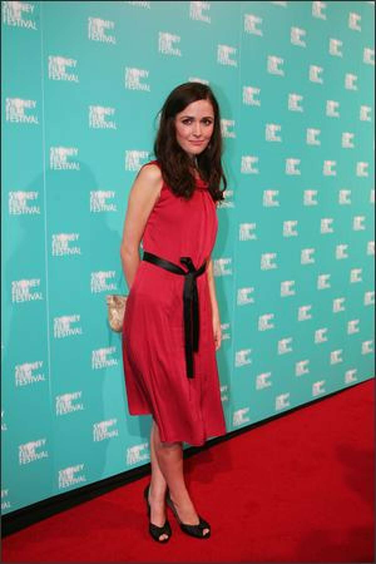 Actress Rose Byrne attends the opening gala night and premiere of 'Happy-Go-Lucky' during the 55th Sydney Film Festival at the State Theatre on Wednesday in Sydney, Australia.