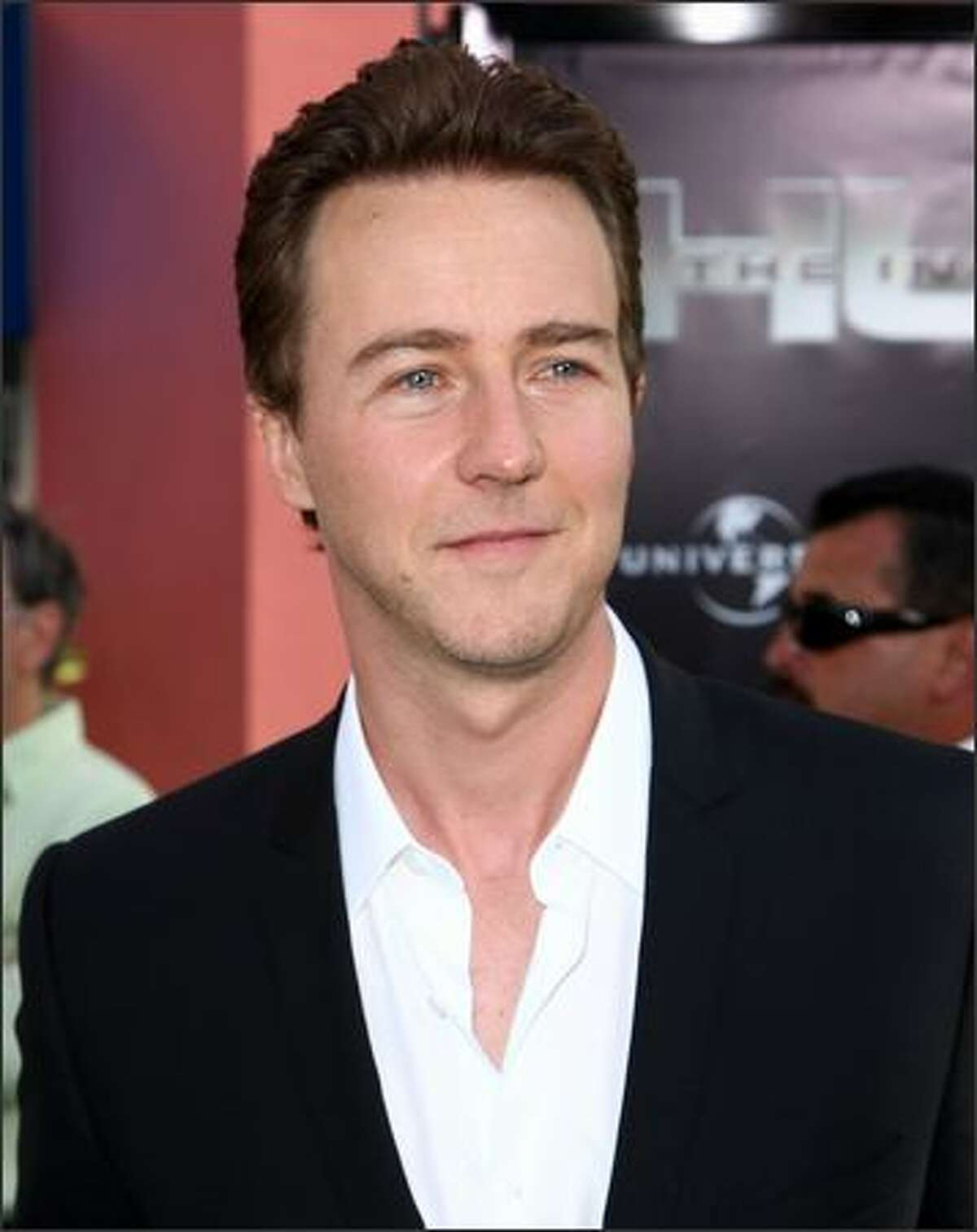 Actor Edward Norton arrives at the premiere of Universal Pictures'