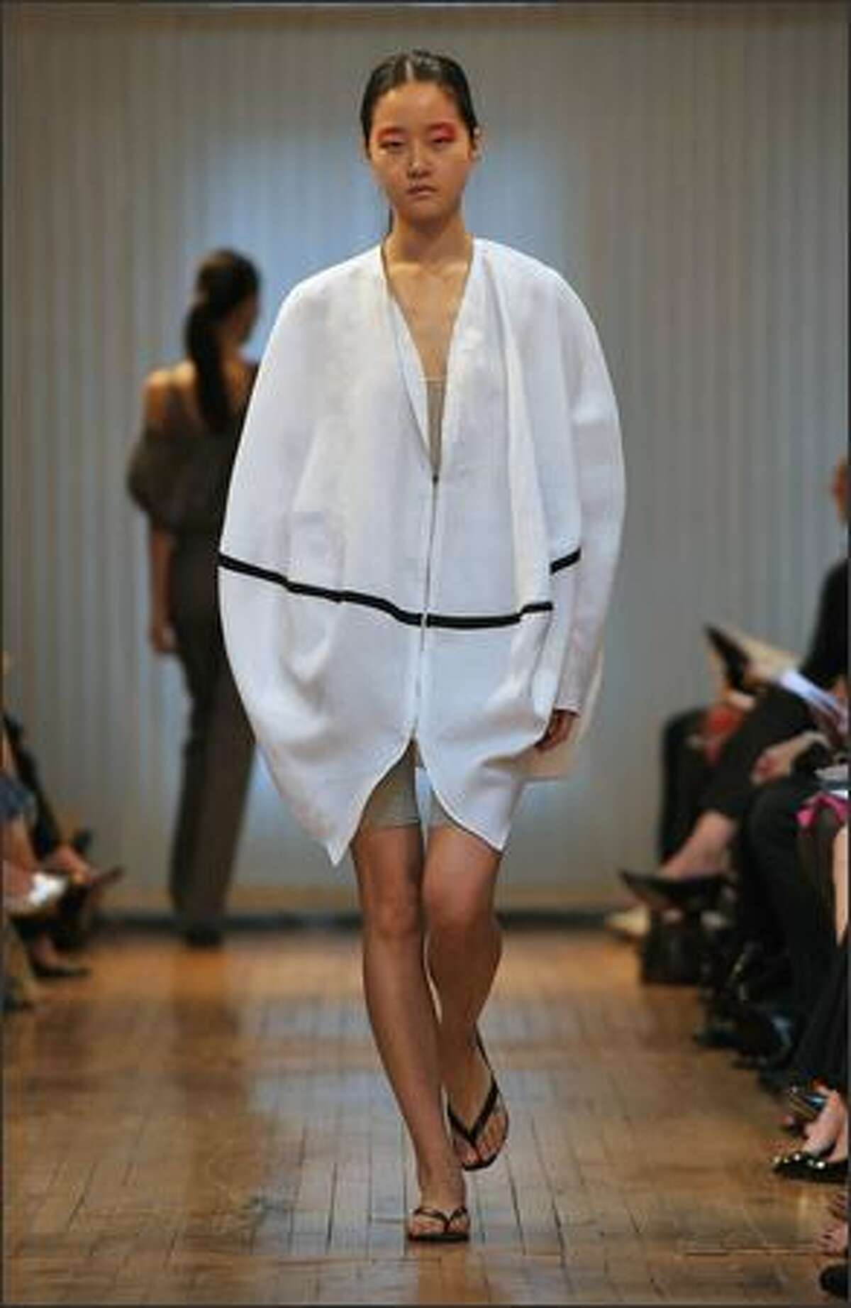 A model walks the runway at the Yeohlee Spring 2009 fashion show during Mercedes-Benz Fashion Week at Van Alen Institute on Monday in New York City.