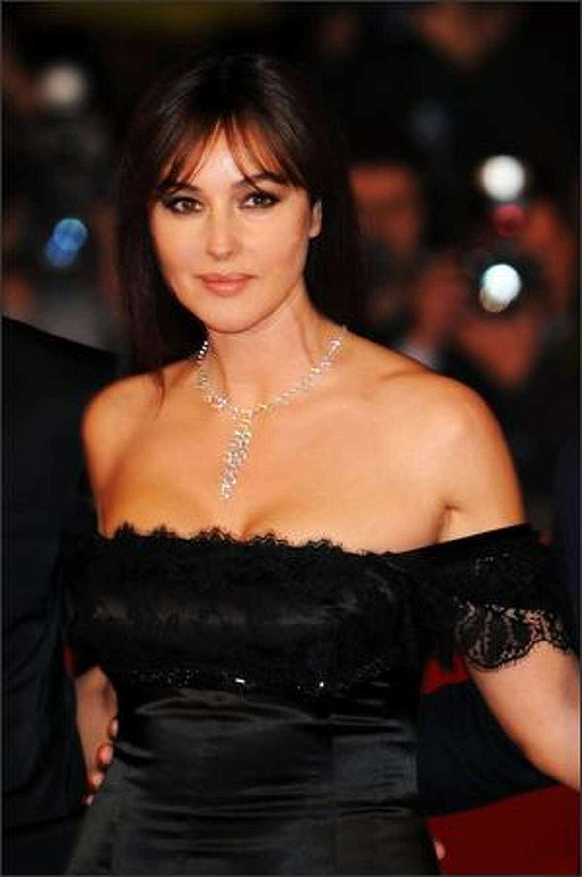 Actress Monica Bellucci arrives at the L'Uomo Che Ama Premiere during the 3rd Rome International Film Festival held at the Auditorium Parco della Musica on Thursday in Rome, Italy.