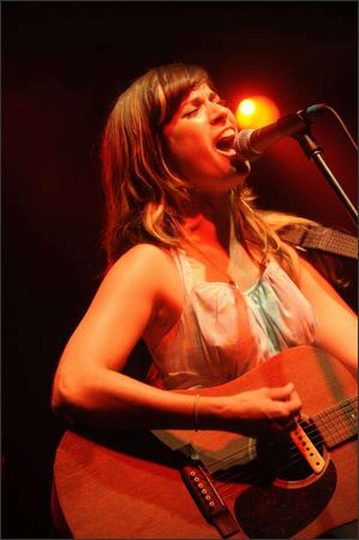 Nicole Atkins performs.