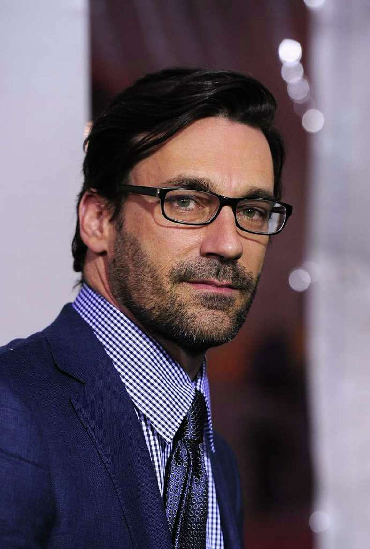 Actor Jon Hamm arrives at the premiere of Warner Bros Pictures'