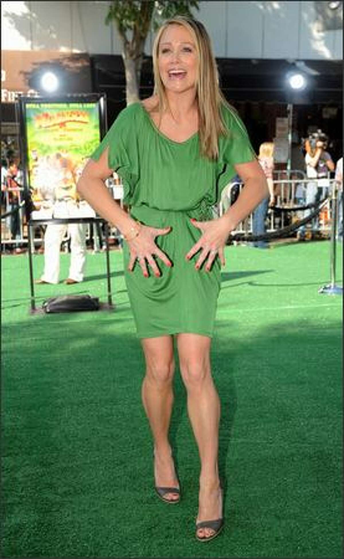 Actor Ben Stiller's wife, actress Christine Taylor arrives at the Los Angeles premiere of